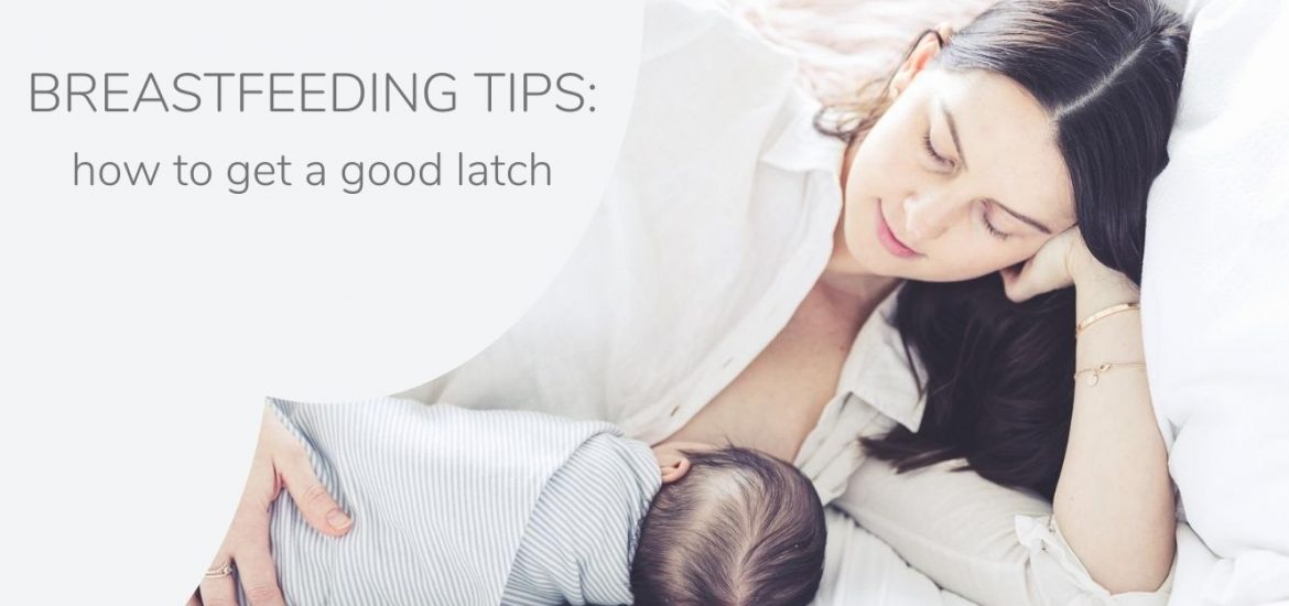 Breastfeeding tips; how to latch on